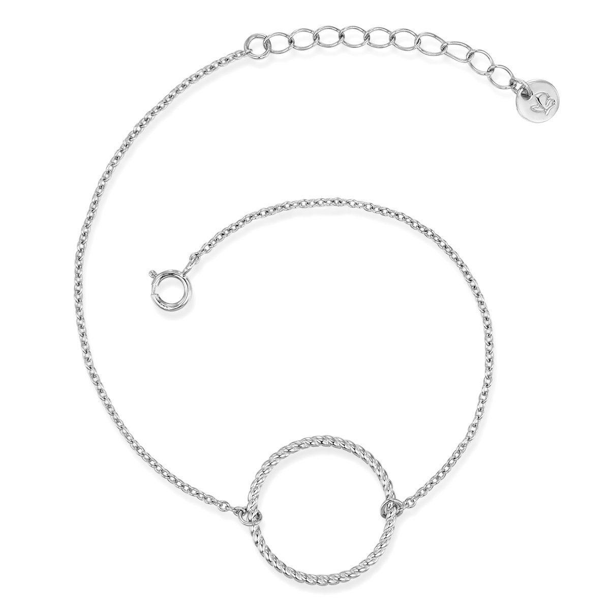 Glanzstücke München Gliederarmband »X1081«, aus Sterling Silber