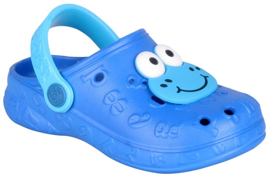 COQUI Clogs mit tollem Froschaufsatz | Schuhe > Clogs & Pantoletten > Clogs | Blau | Coqui