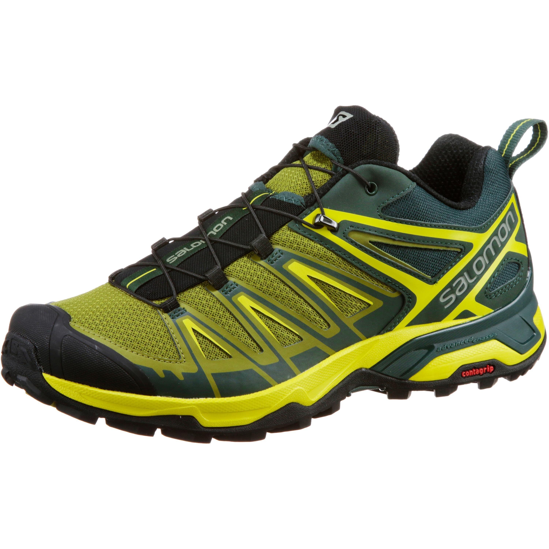 Salomon X ULTRA 3 Wanderschuh online kaufen  tannengrün-moosgrün-gelb-schwarz
