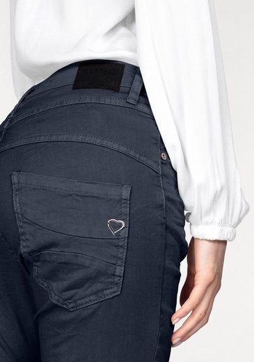 Please Jeans Boyfriend-Hose P78A, mit Herz-Metalllabel
