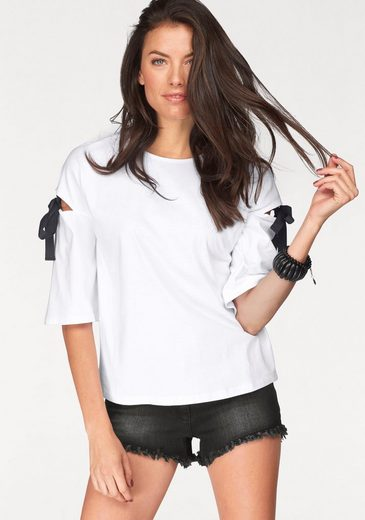 Aniston T-Shirt, mit Cut-out am Oberarm
