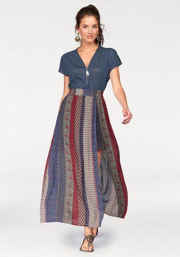 Aniston V-Ausschnitt-Pullover, mit Reißverschluss