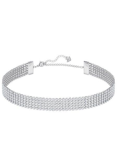 swarovski -  Collier »Choker oder doppelt gewickeltes Armband, FIT HALSBAND, WEISS, PALLADINIERT, 5299886« mit ® Kristallen
