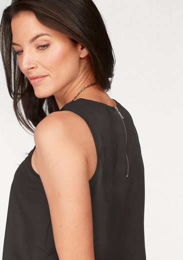 Aniston Blusentop, mit Reißverschluss im Rücken