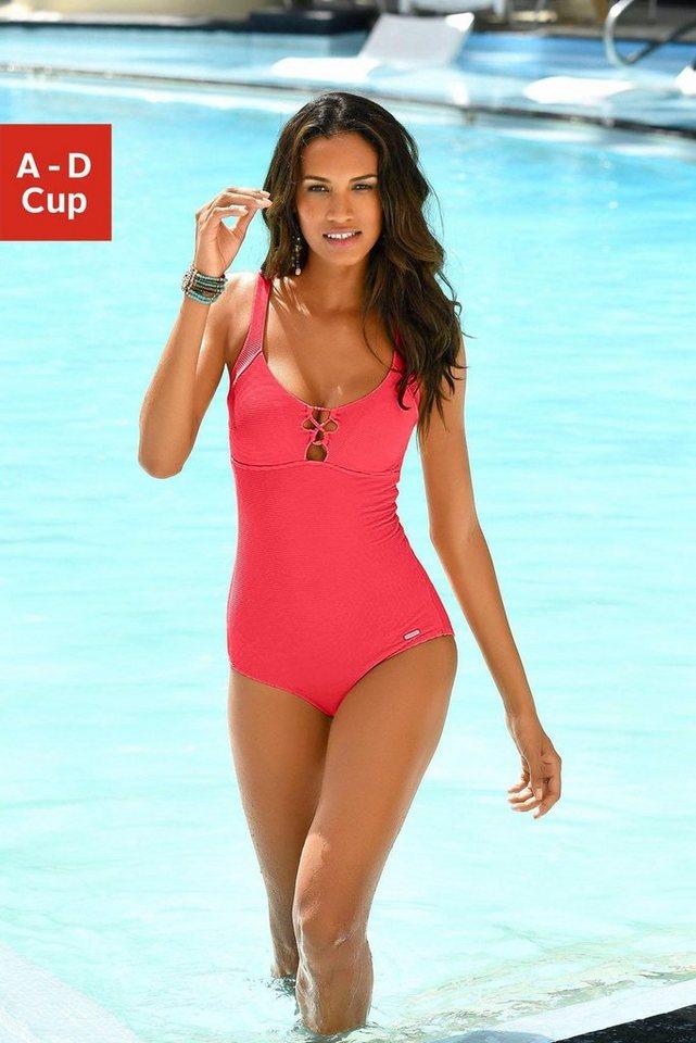 Bademode - Sunseeker Badeanzug, mit eleganter Zierschnürung › rot  - Onlineshop OTTO