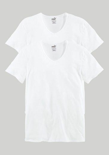 PUMA T-Shirts (2 Stück) mit V-Ausschnitt