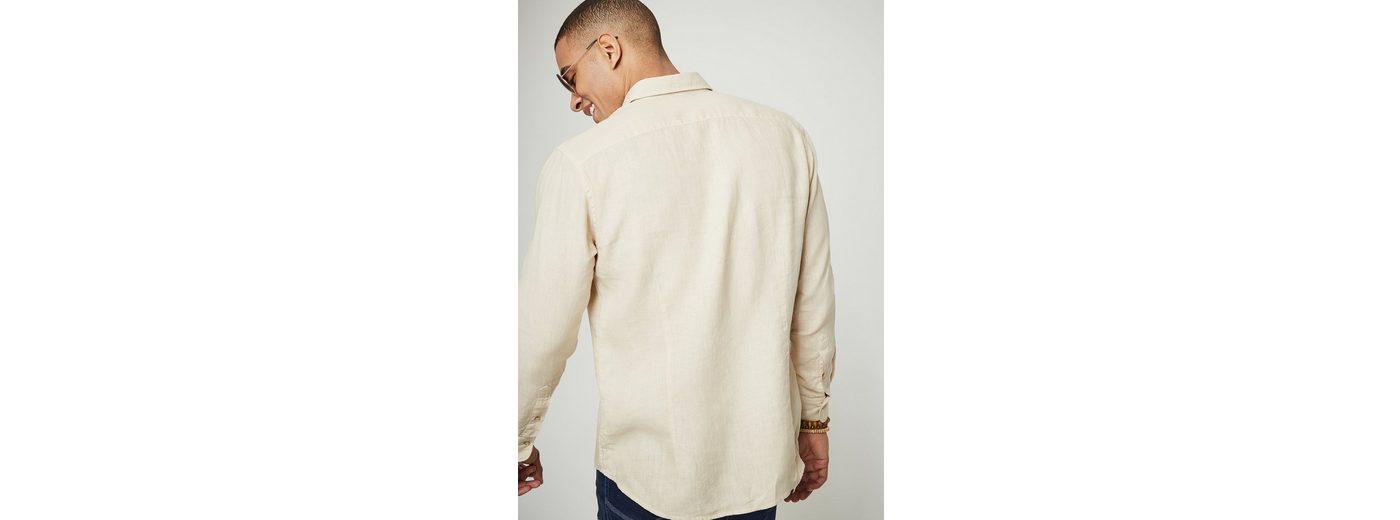PIERRE CARDIN Leinenhemd mit Kentkragen - Slim Fit Zuverlässig Zu Verkaufen I47HeIri