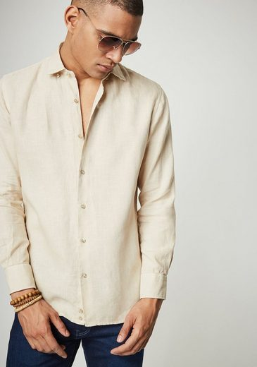 PIERRE CARDIN Leinenhemd mit Kentkragen - Slim Fit