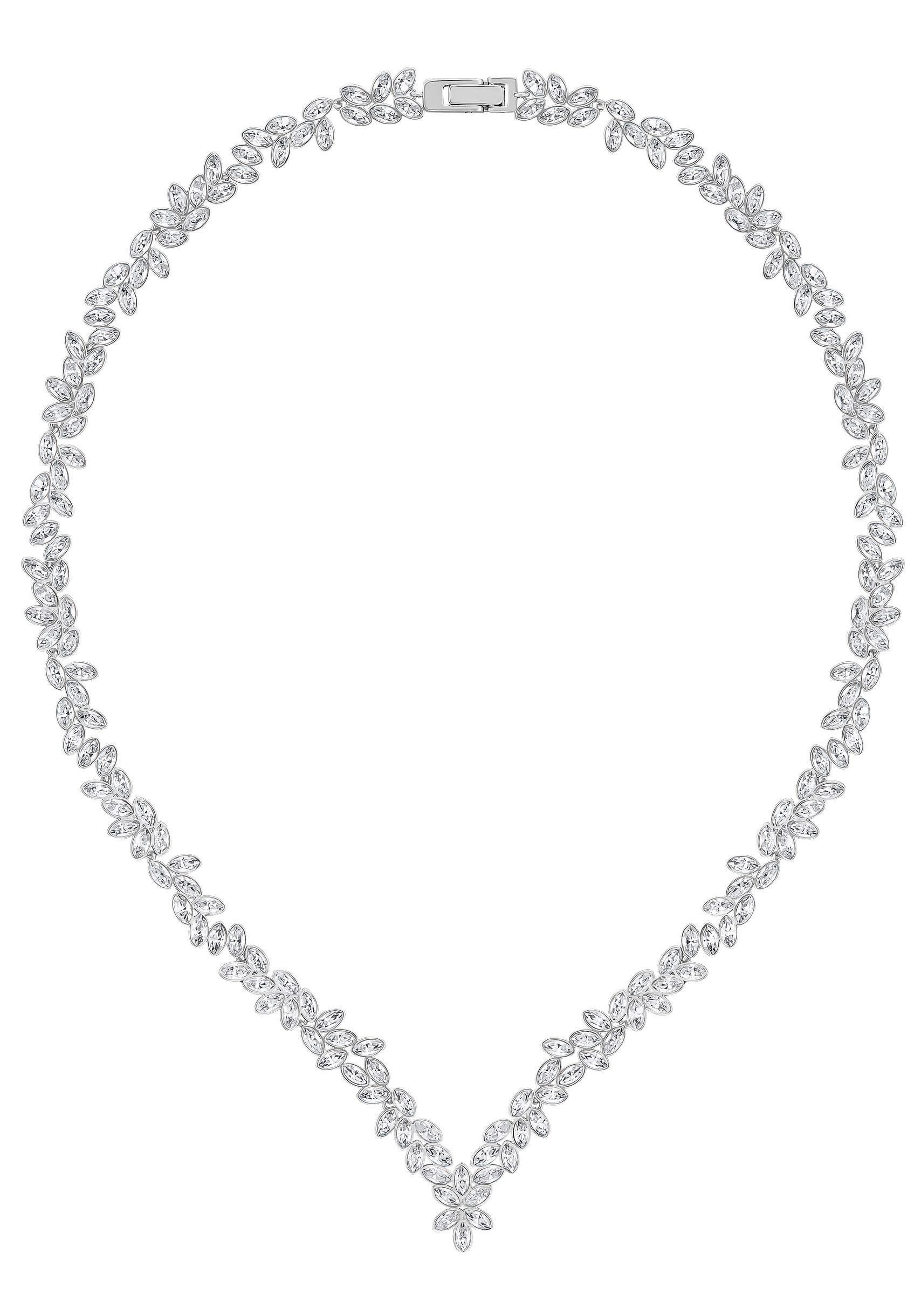 Swarovski Collier »DIAPASON, WEISS, RHODINIERT, 5184273« mit Swarovski® Kristallen