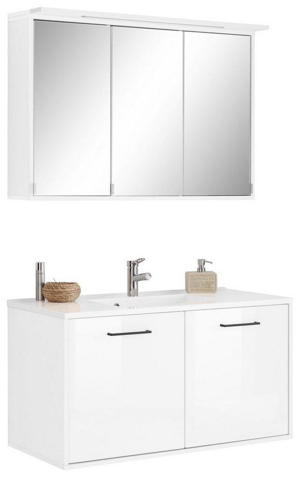 held m bel badm bel set lier 2 tlg waschtisch 100 spiegelschrank 100 online kaufen otto. Black Bedroom Furniture Sets. Home Design Ideas