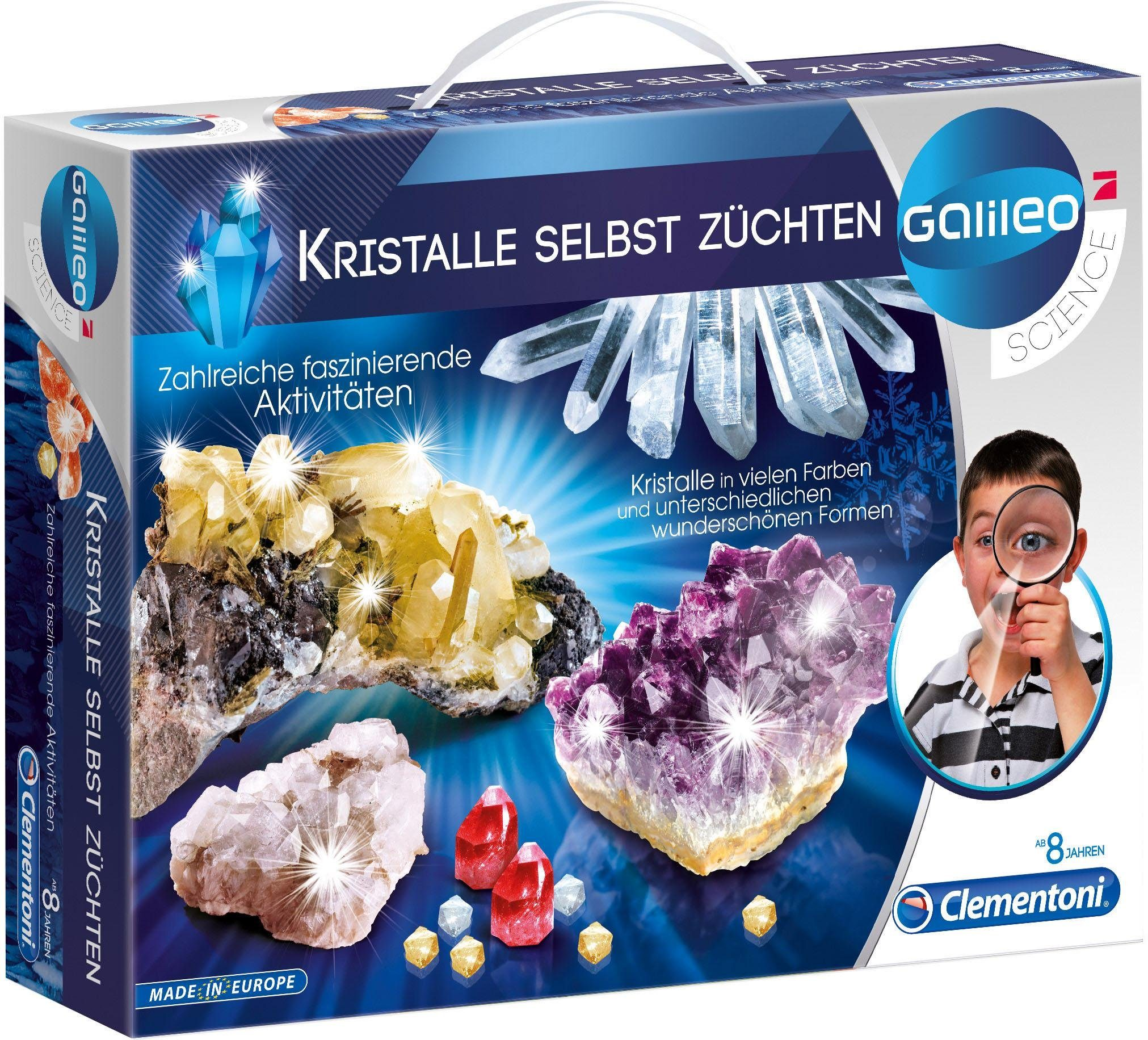 Experimentier-Set, »Galileo - Kristalle selbst züchten«, Clementoni