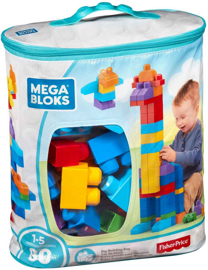 MEGA BLOKS Konstruktionsspielsteine »First Builders Large«, (80 St)