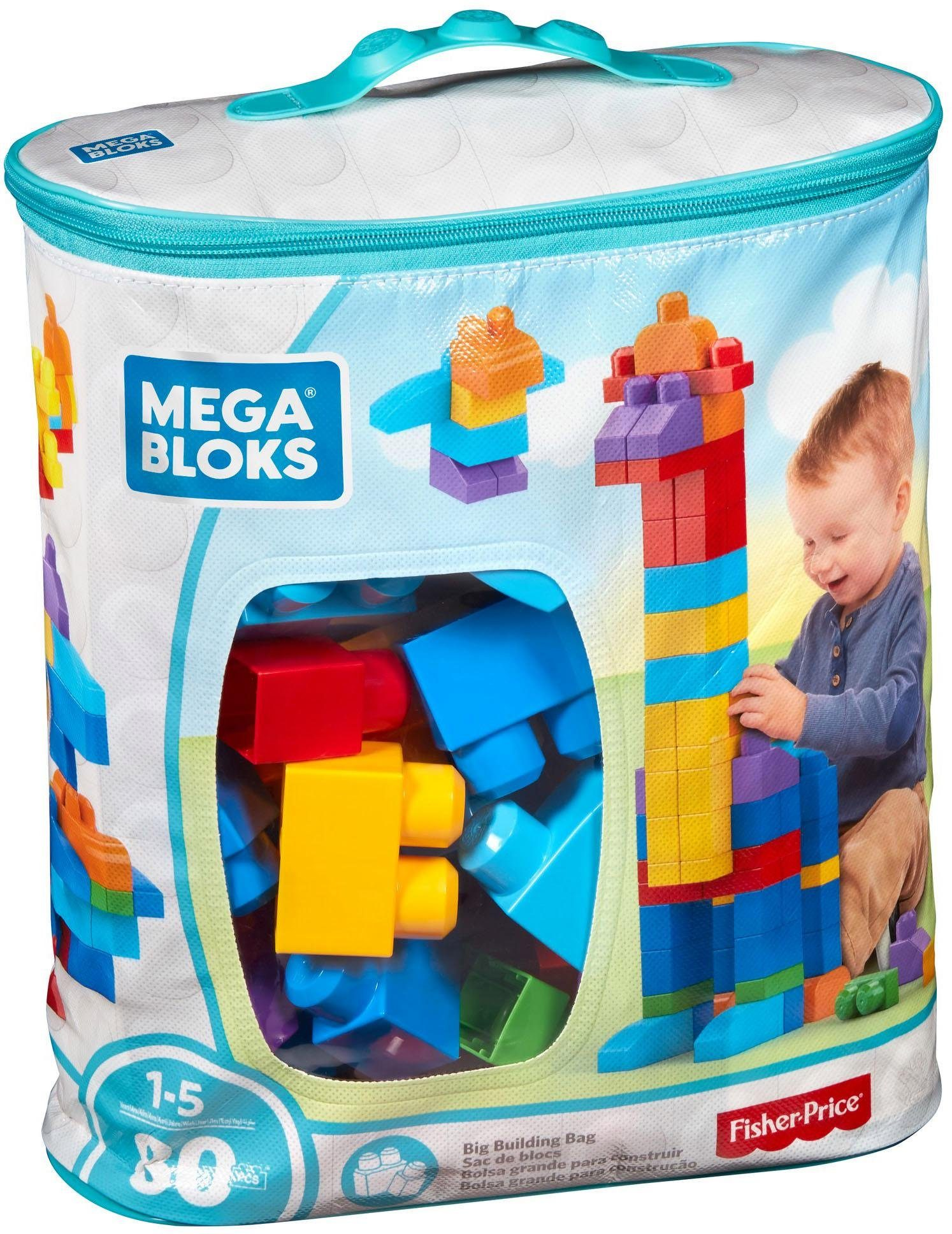 Fisher Price, Bausteinetasche, »Mega Bloks, First Builders Large Grundfarben«
