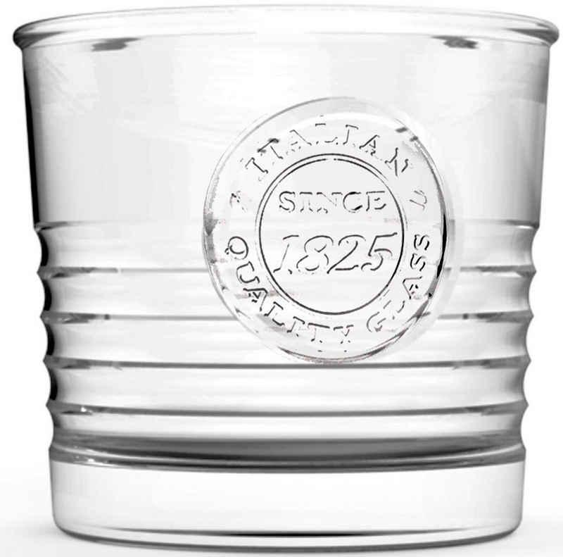 van Well Glas »Officina«, Glas, Mit schönem Relief-Design, 6-teilig