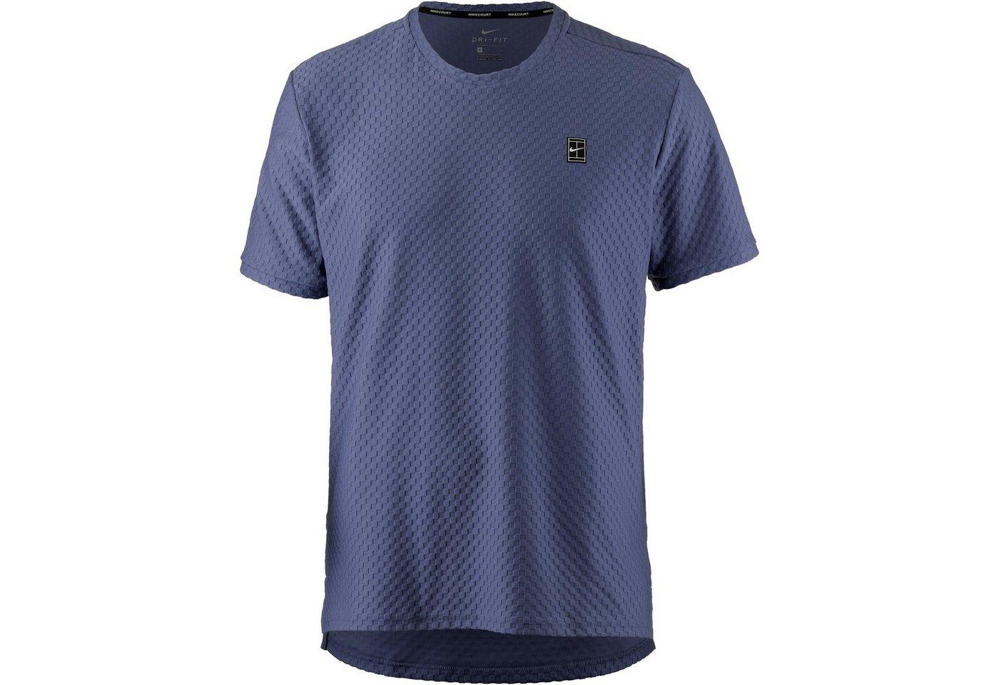 Nike Tennisshirt | Sportbekleidung > Sportshirts > Tennisshirts | Blau | Polyester - Elastan | Nike