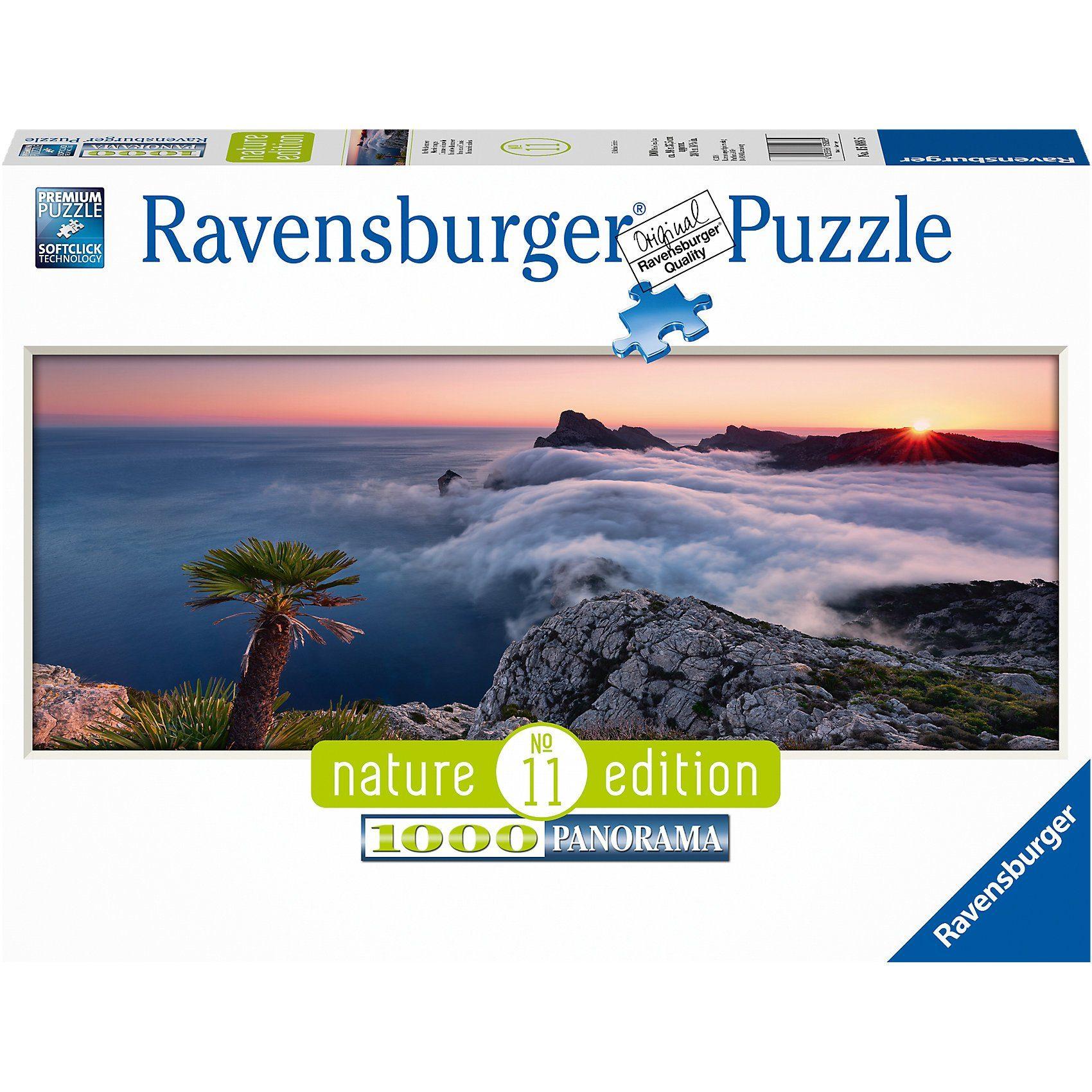Ravensburger Puzzle 1000 Teile, 98x37 cm, Panorama, Im Wolkenmeer