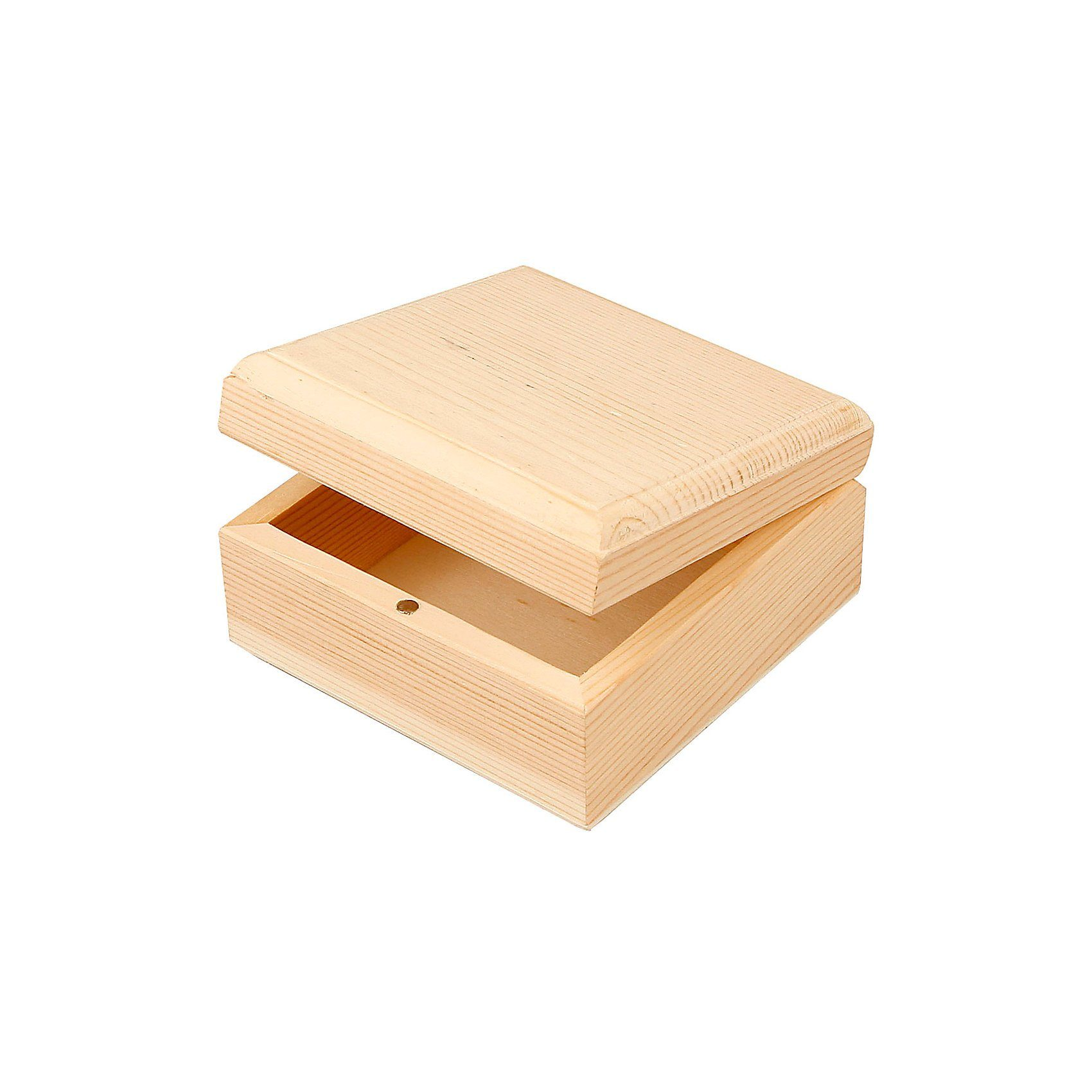 Holzschatulle, Größe 9x9x5 cm, Innenmaße 7,5x7,5x3 cm, Kaise