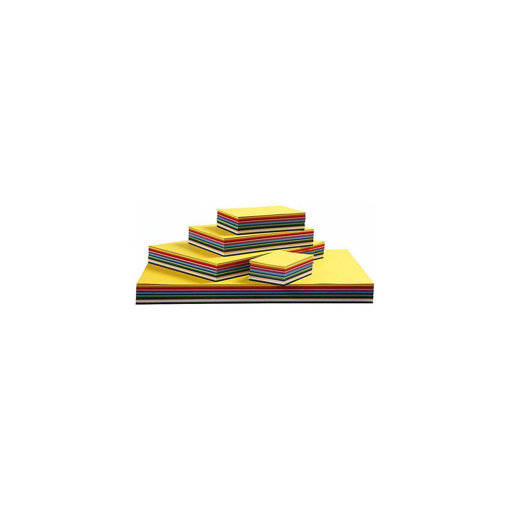 Farbkarton, A3+A4+A5+A6, 180 g, Sortierte Farben, 1500 Bla