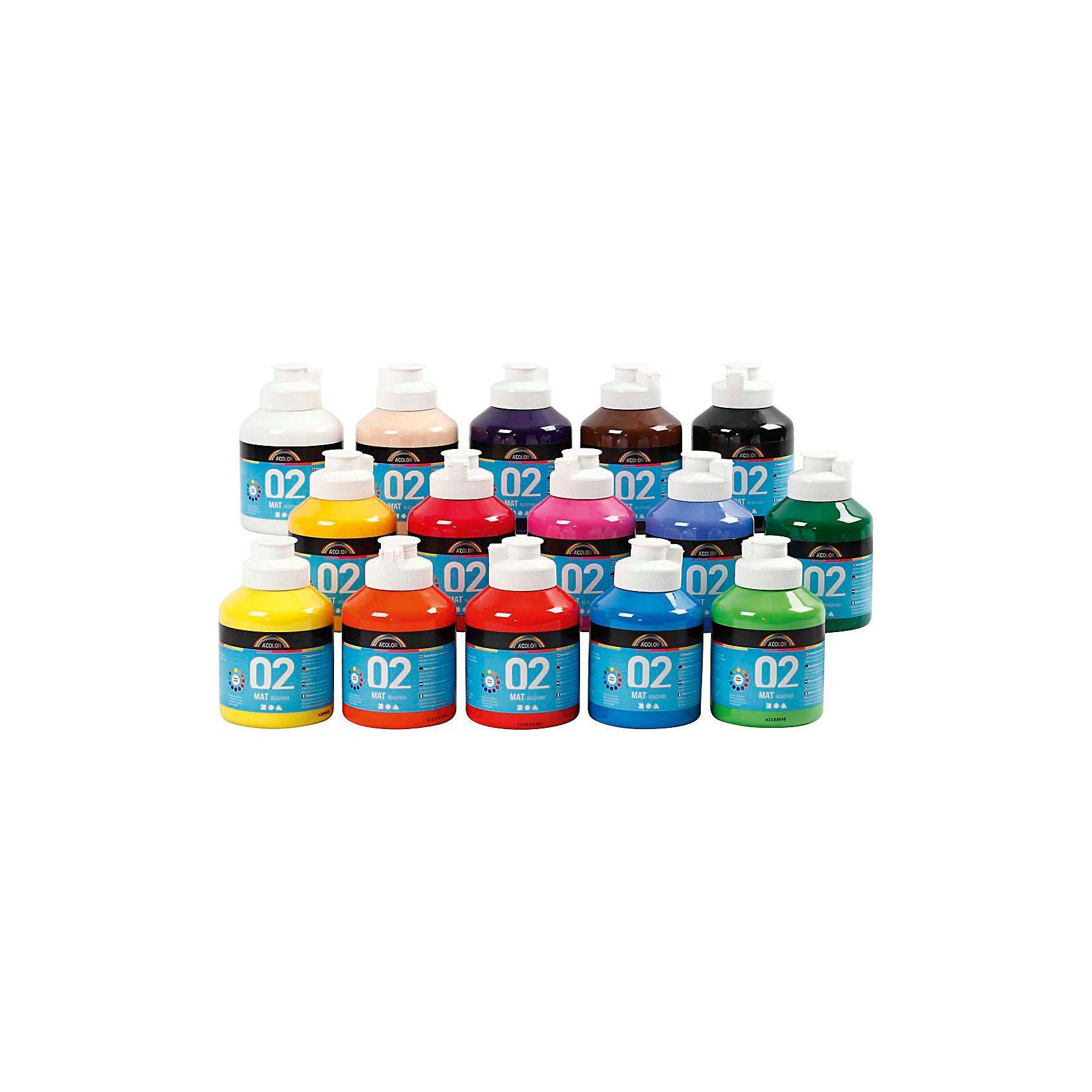 A-Color Acrylfarbe, 02 - Matt, 15x500ml