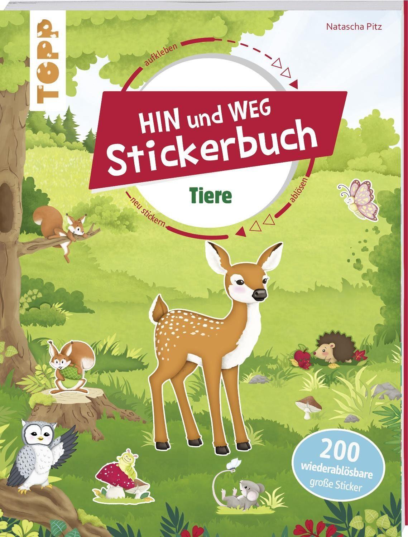 """Topp Buch """"Das Hin-und-weg-Stickerbuch. Tiere"""" 32 Seiten"""
