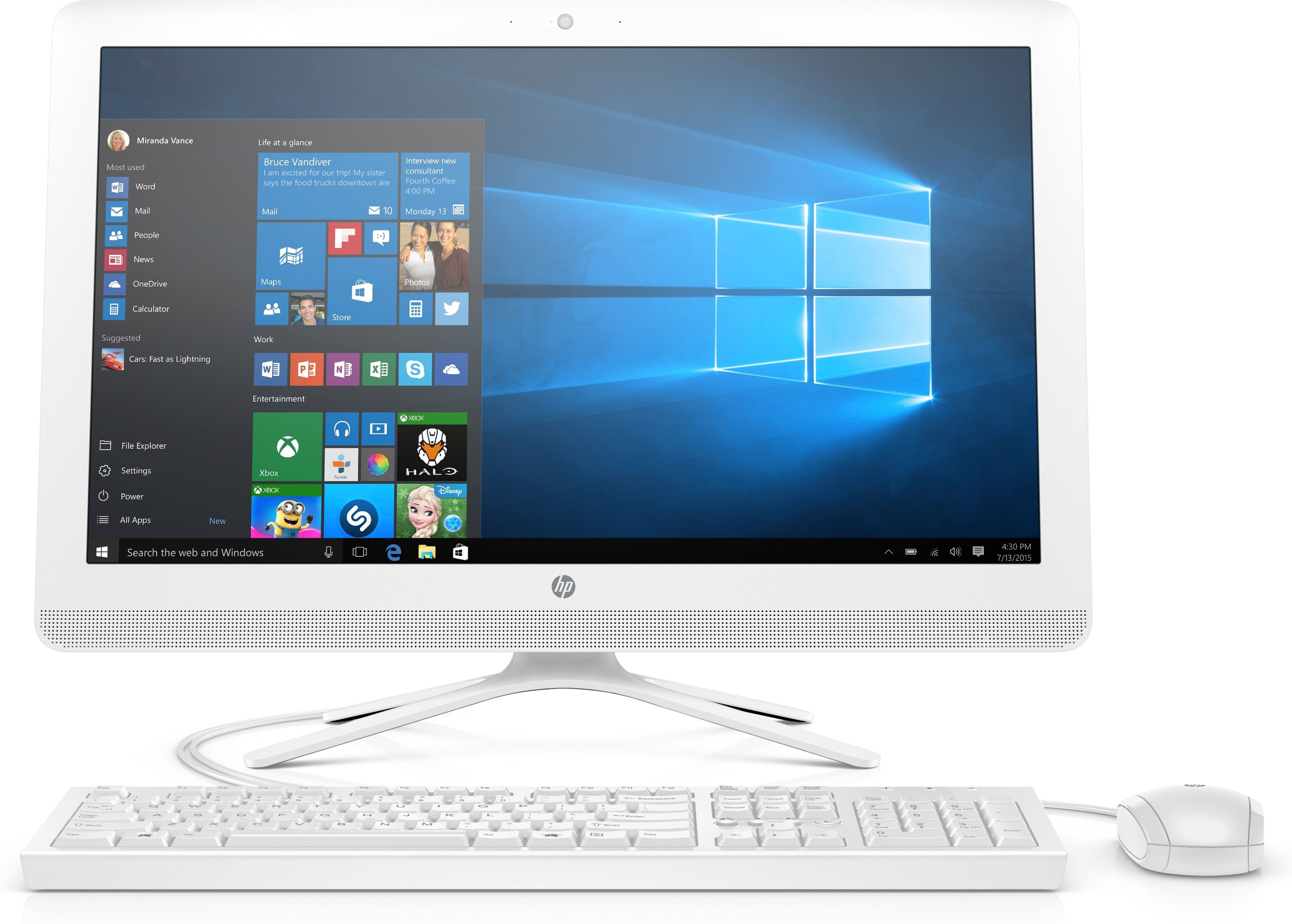 "HP All-in-One 24-e066ng »Intel Core i3, 60,45cm (23,8""), 256 GB SSD«"