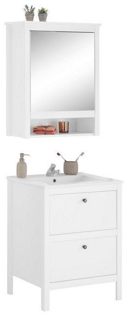 Badezimmer Sets - trendteam Badmöbel Set »Ole«, (Set, 2 St), für Gäste WC geeignet  - Onlineshop OTTO