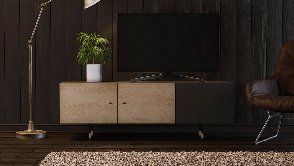 woodman tv lowboard daniel mit soft close funktion breite 150 cm online kaufen otto. Black Bedroom Furniture Sets. Home Design Ideas