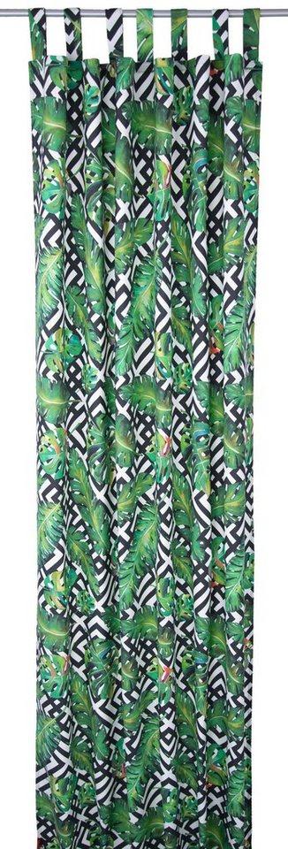 vorhang black jungle tom tailor schlaufen 1 st ck. Black Bedroom Furniture Sets. Home Design Ideas