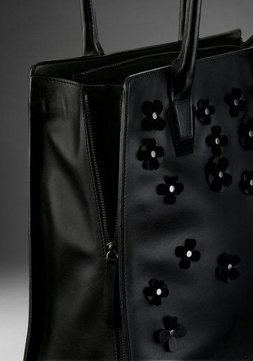 Guido Erweiterbarem Shopper Blütenapplikation Mit Leder Volumen Kretschmer Aus Maria Und TTw16qg