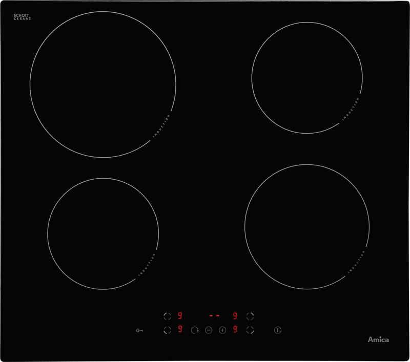 Amica Induktions-Kochfeld von SCHOTT CERAN® KMI 13298 C, Topferkennungsfunktion