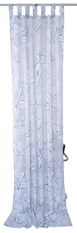 vorhang blue flowers tom tailor schlaufen 1 st ck. Black Bedroom Furniture Sets. Home Design Ideas