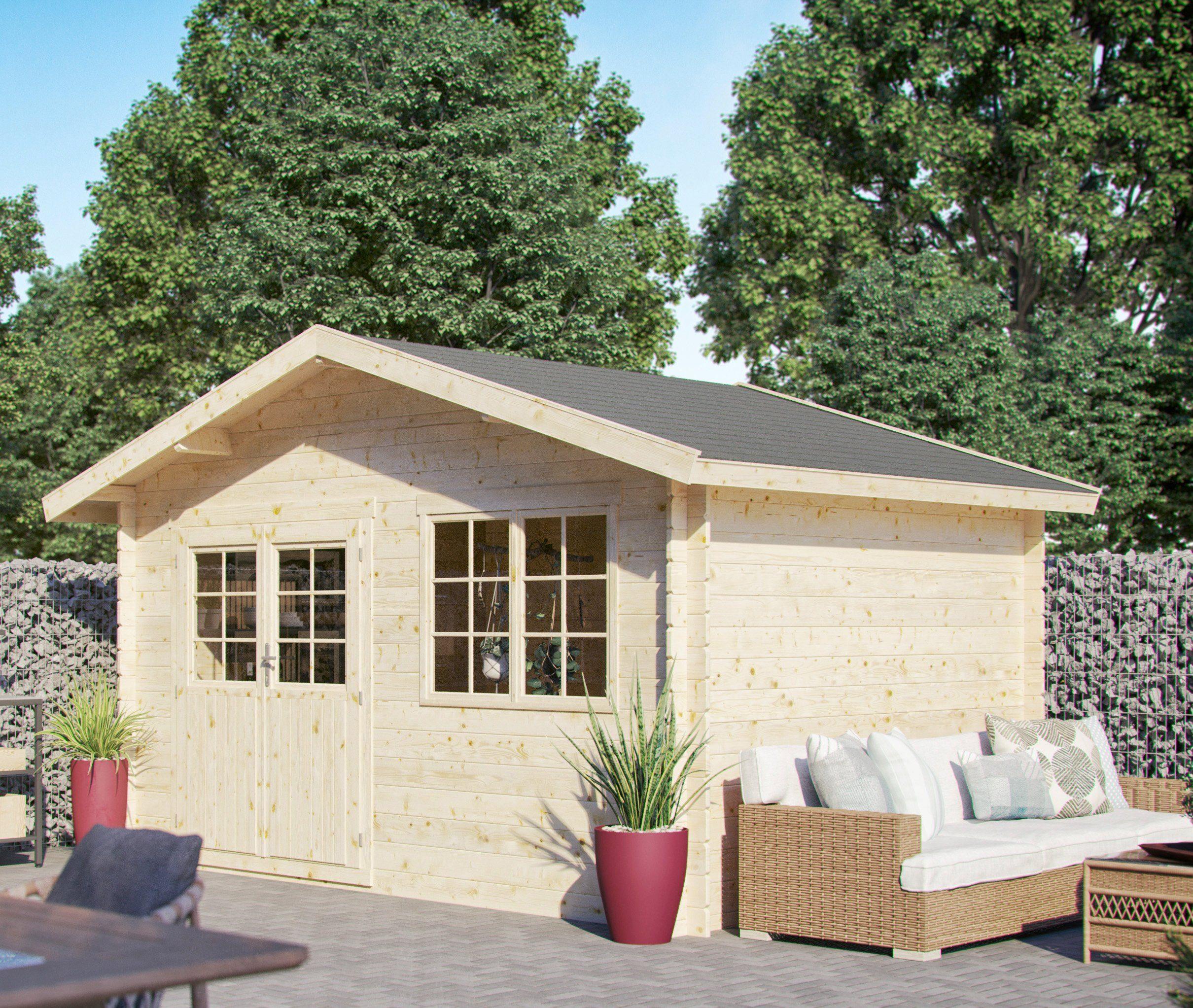 LUOMAN Gartenhaus »Lillevilla 279«, BxT: 380x280 cm, 28 mm