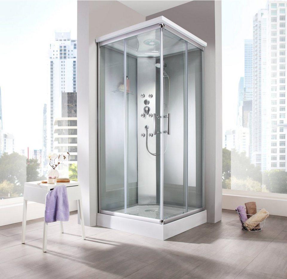 fertigdusche porto 90 x 90 cm frosted glass eckdusche online kaufen otto. Black Bedroom Furniture Sets. Home Design Ideas