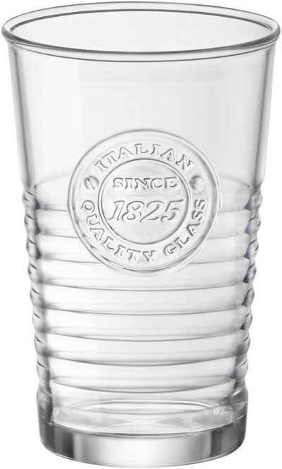 van Well Gläser-Set »Officina«, Glas, Mit schönem Relief-Design, 6-teilig