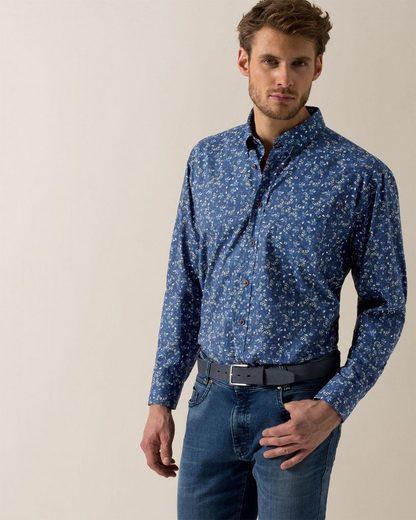 Bugatti Langarmhemd, mit einem floralem Muster