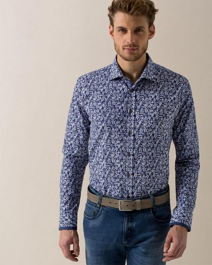 Bugatti Long-sleeved Shirt With A Floral Pattern