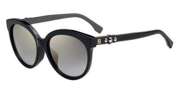FENDI Fendi Damen Sonnenbrille » FF 0268/F/S«, schwarz, 807/FQ - schwarz/ gold