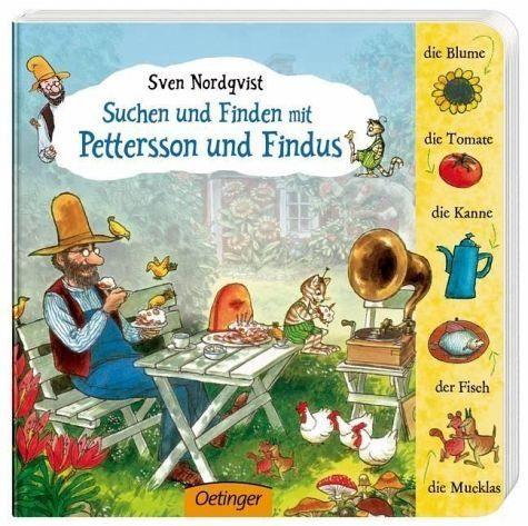 Buch mit Papp-Einband »Suchen und finden mit Pettersson und Findus«