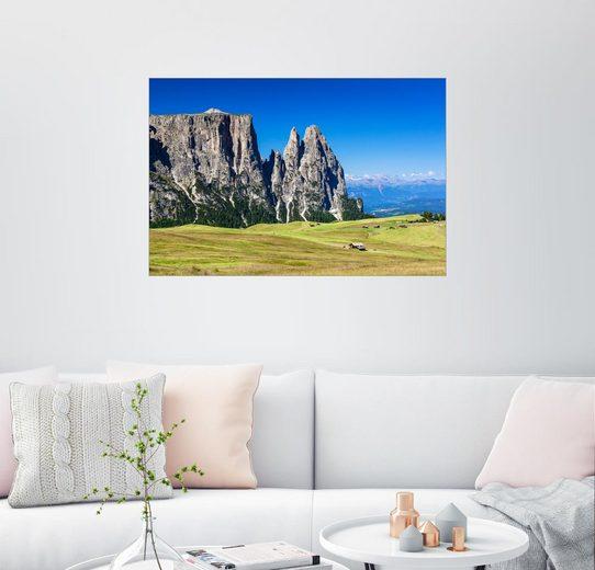 Posterlounge Wandbild - Sascha Kilmer »Seiser Alm mit Schlern, Südtirol«