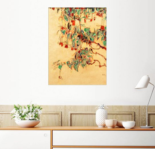 Posterlounge Wandbild - Egon Schiele »Fuchsienzweige (Sonnenbaum)«