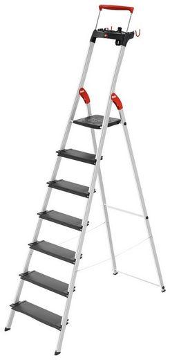 HAILO Stehleiter »L100«, 7 Stufen, max. Arbeitshöhe: 350 cm