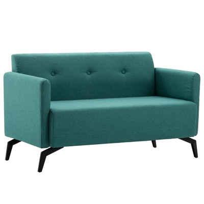 Forsman Shop Schlafsofa »2-Sitzer-Sofa Stoffbezug 115 x 60 x 67 cm Grün Holzrahmen mit Stoffpolsterungstabil und langlebig«, Abmessungen: 115 x 60 x 67 cm (B x T x H)