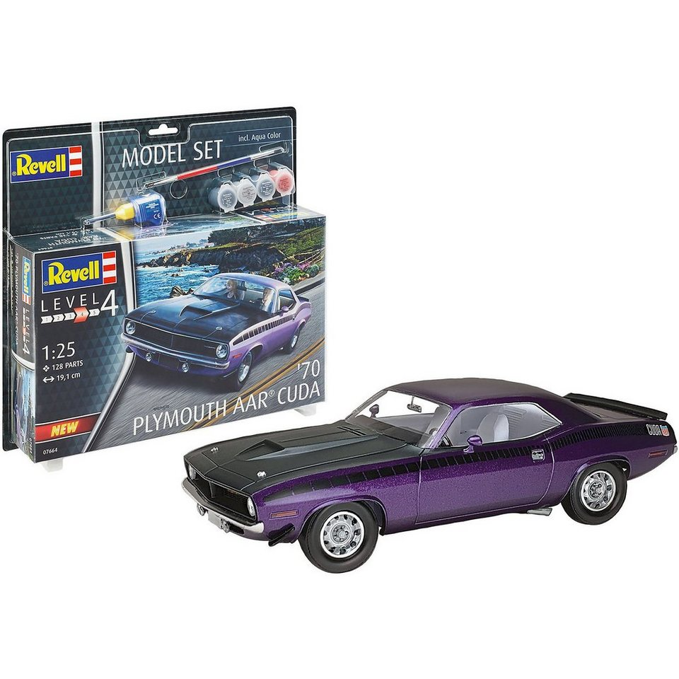 Revell® Modellbausatz »Model Set 1970 Plymouth AAR Cuda«