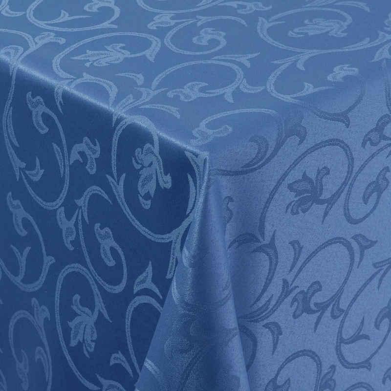 Moderno Tischdecke »Tischdecke Stoff Damast Barock Jacquard Ranken Design mit Saum«, Eckig 80x80 cm