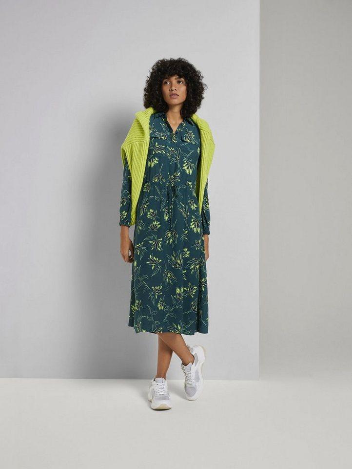 tom tailor mine to five -  Blusenkleid »Gemustertes Midi-Blusenkleid«