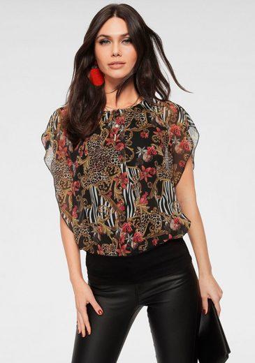 Melrose Blusenshirt mit bedrucktem Chiffon