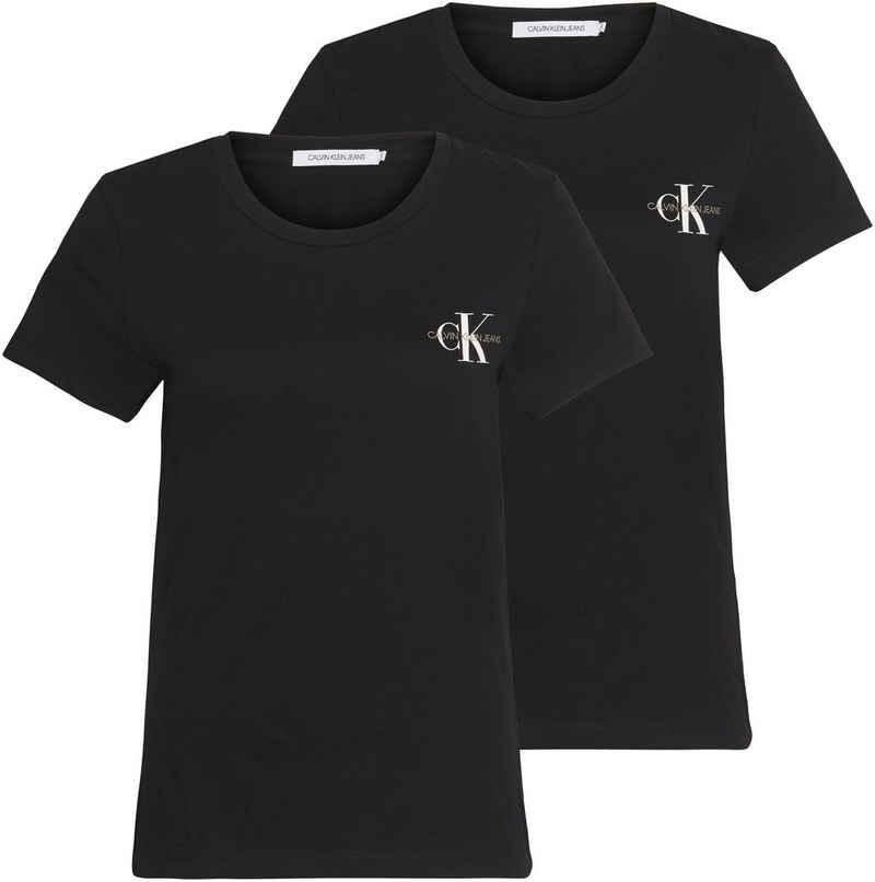 Calvin Klein Jeans T-Shirt »2 PACK SLIM T-SHIRT« (Packung, 2er-Pack) mit Calvin Klein Jeans Logo-Print auf der Brust