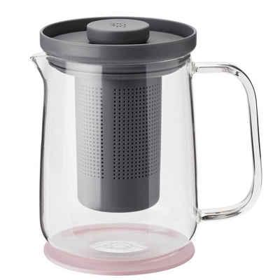 RIG-TIG Teebereiter Rig-Tig Brew-it Teezubereiter press tea maker 0,7 Liter grau/rose