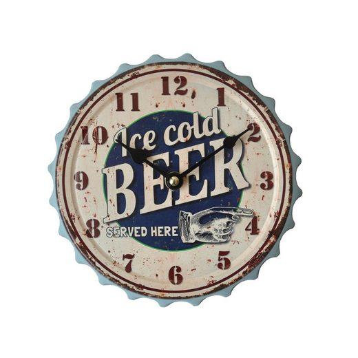 HTI-Line Wanduhr »Bier«