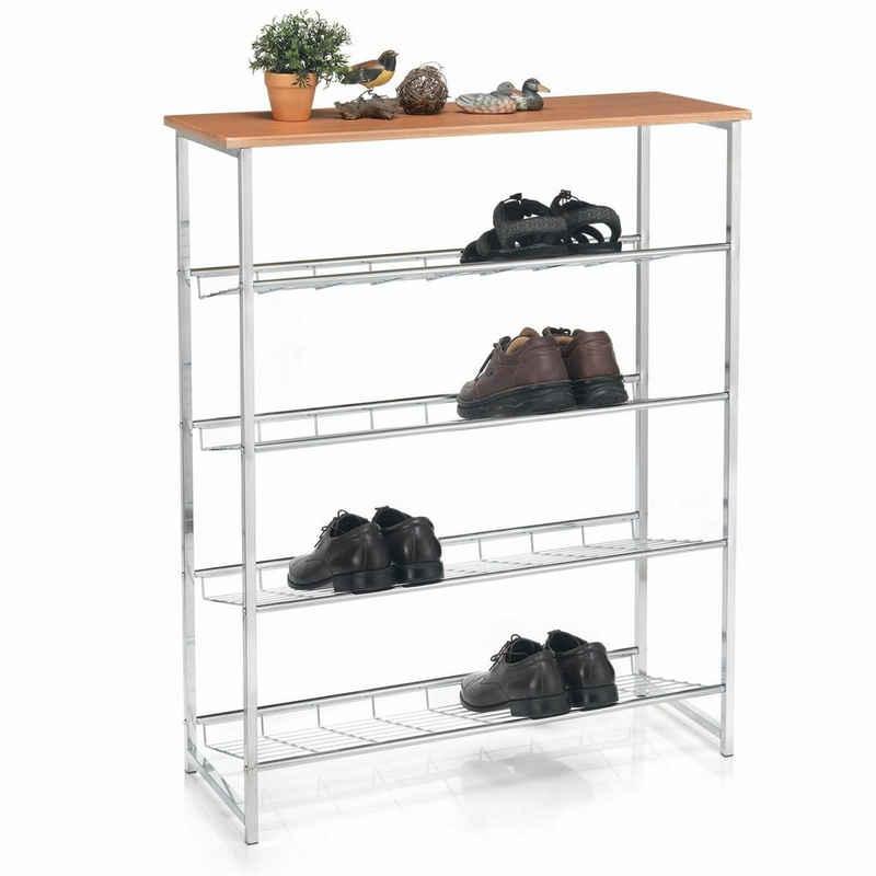 CARO-Möbel Schuhregal »CORREDOR«, Schuhregal Schuhablage Aufbewahrung Ständer offen für Schuhe